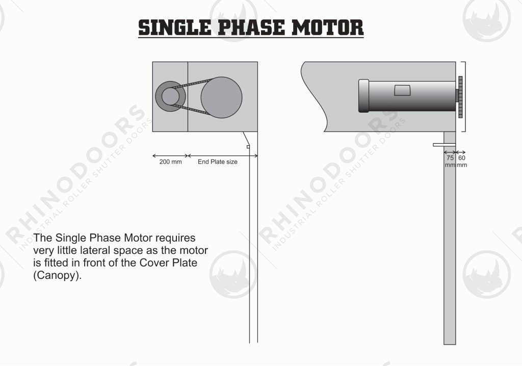 Lateral Space - Singe Phase Motor Illustration
