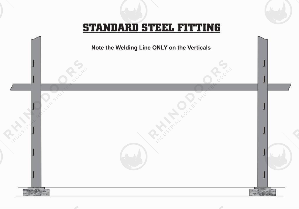 Rhino Shutter Doors - Standard Steel Fitting Illustration