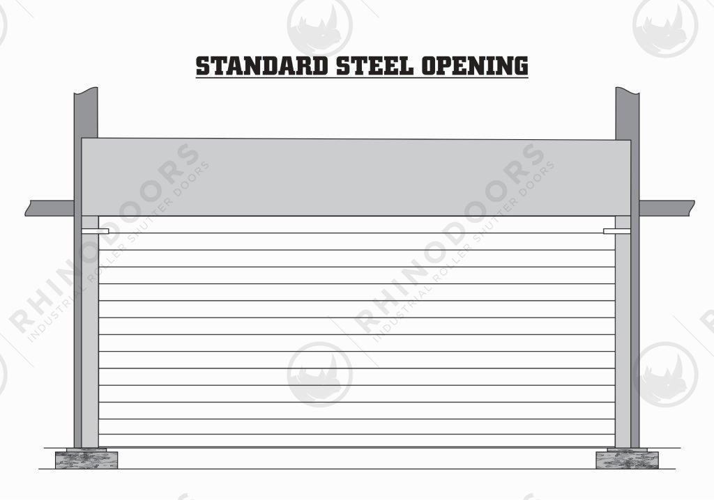 Rhino Shutter Doors - Standard Steel Opening Illustration