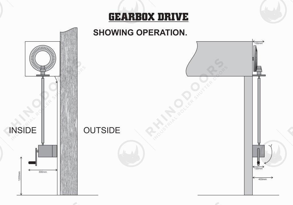 Lateral Space - Gearbox Drive Illustration