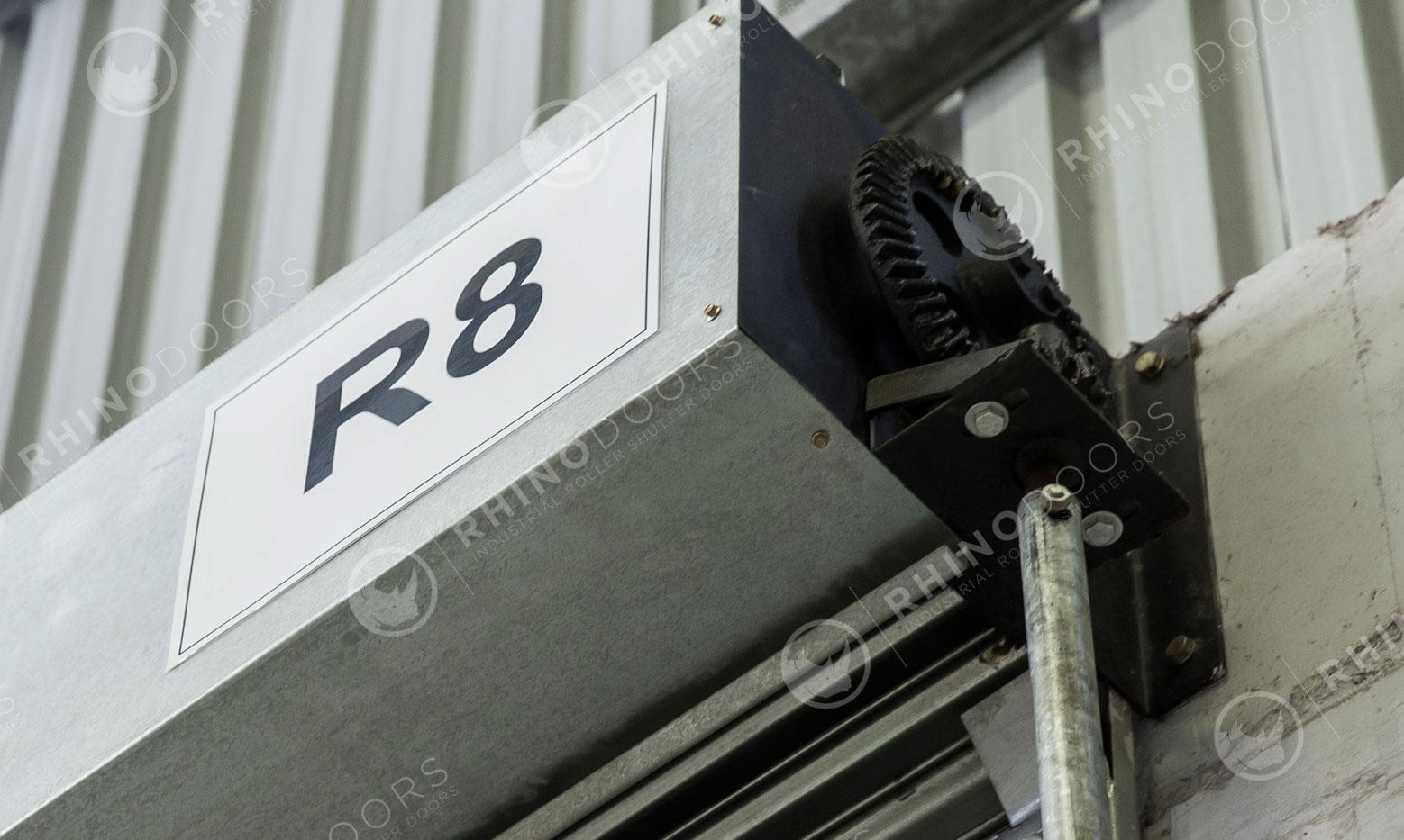 Gear Operated Roller Shutter Door angle closeup