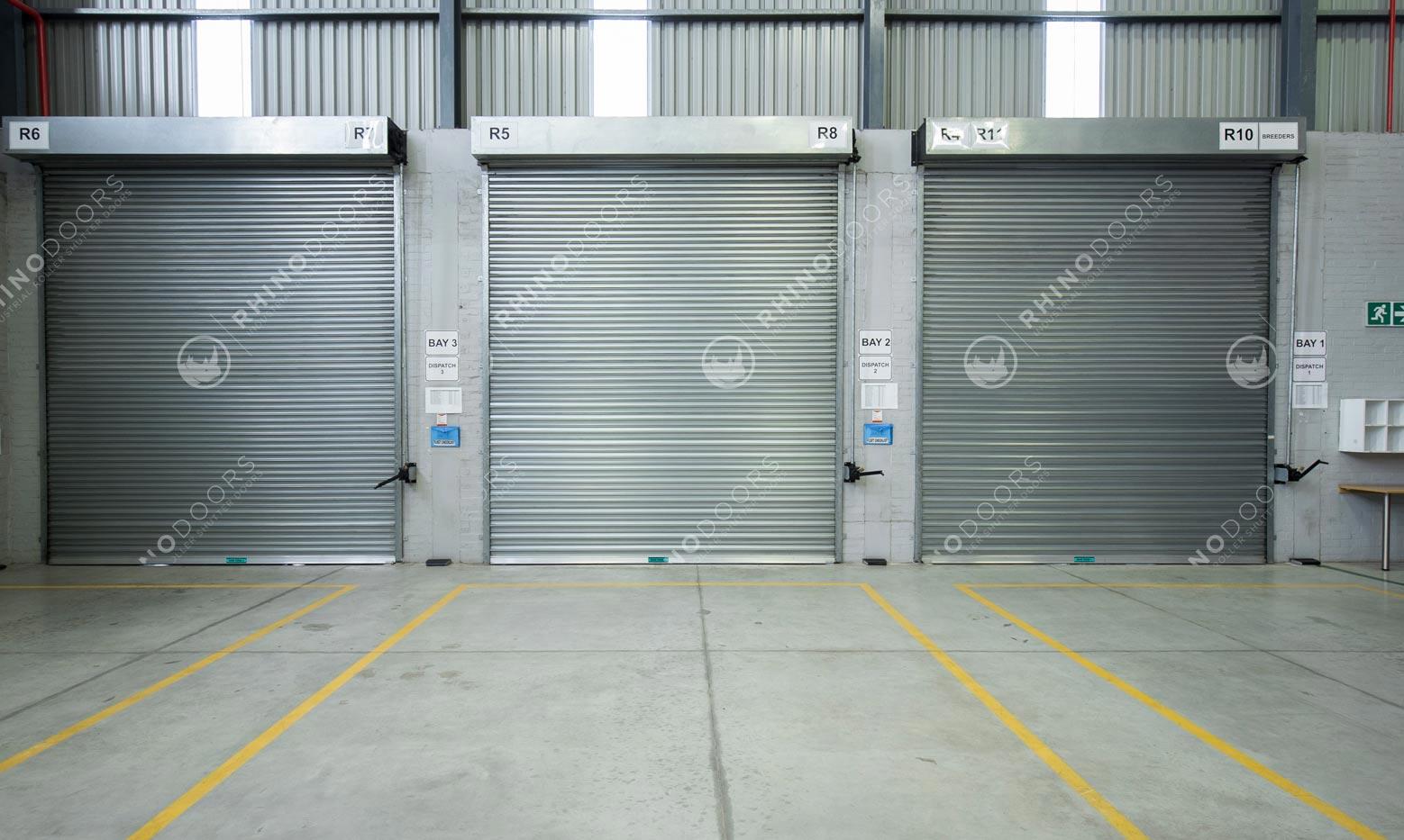 "Three ""Rhino Glide"" Industrial Roller Shutter Door"